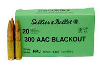 SB 300 AAC BlackOut FMJ 9,55 g (147 grs) 2908/2