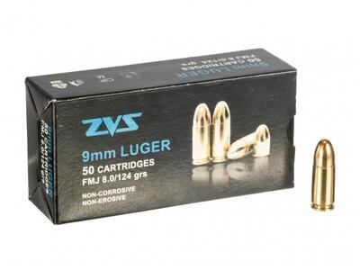 ZVS 9 mm Luger FMJ, 8,0 g (124 grs)