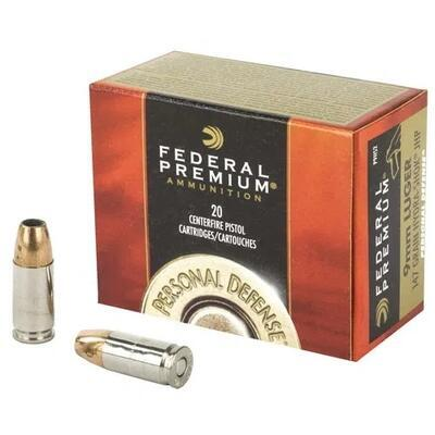 Federal 9 mm Luger 147 Grs. Hydra-Shok JHP - 1